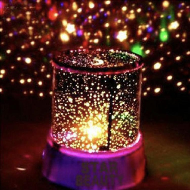 Đèn Ngủ Tạo Sao ngân hà - Star Beauty cực đẹp j1-0 (Đen)  + Tặng kèm dây sạc