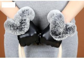 Găng tay nữ da cao cấp thời trang chống bong tróc CẢM ỨNG điện thoại 10 ngóN-GTCU03 thumbnail