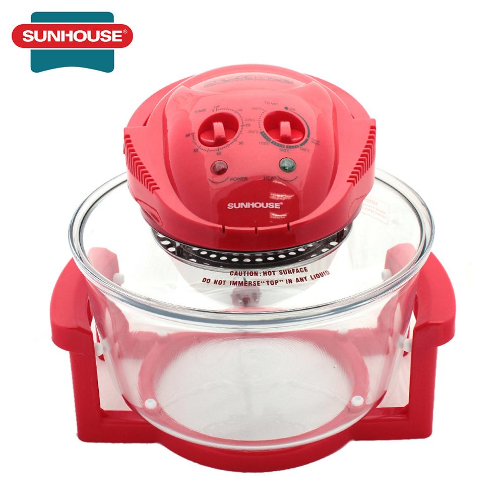 Lò nướng thuỷ tinh Sunhouse SH416 12L (Đỏ)