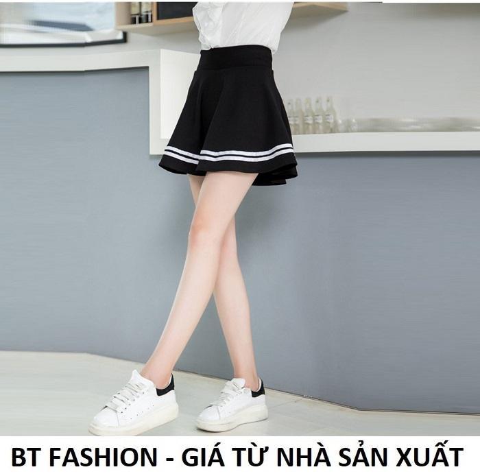 Chân Váy Xòe Lưng Thun Duyên Dáng Thời Trang Hàn Quốc - BT Fashion (VA001- Xòe Viền)