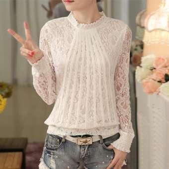 เสื้อคอปกแขนยาวสไตล์สาวเกาหลี