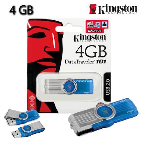 USB KINGSTON DT101 4GB đủ dung lượng, bảo hành 1 đổi 1