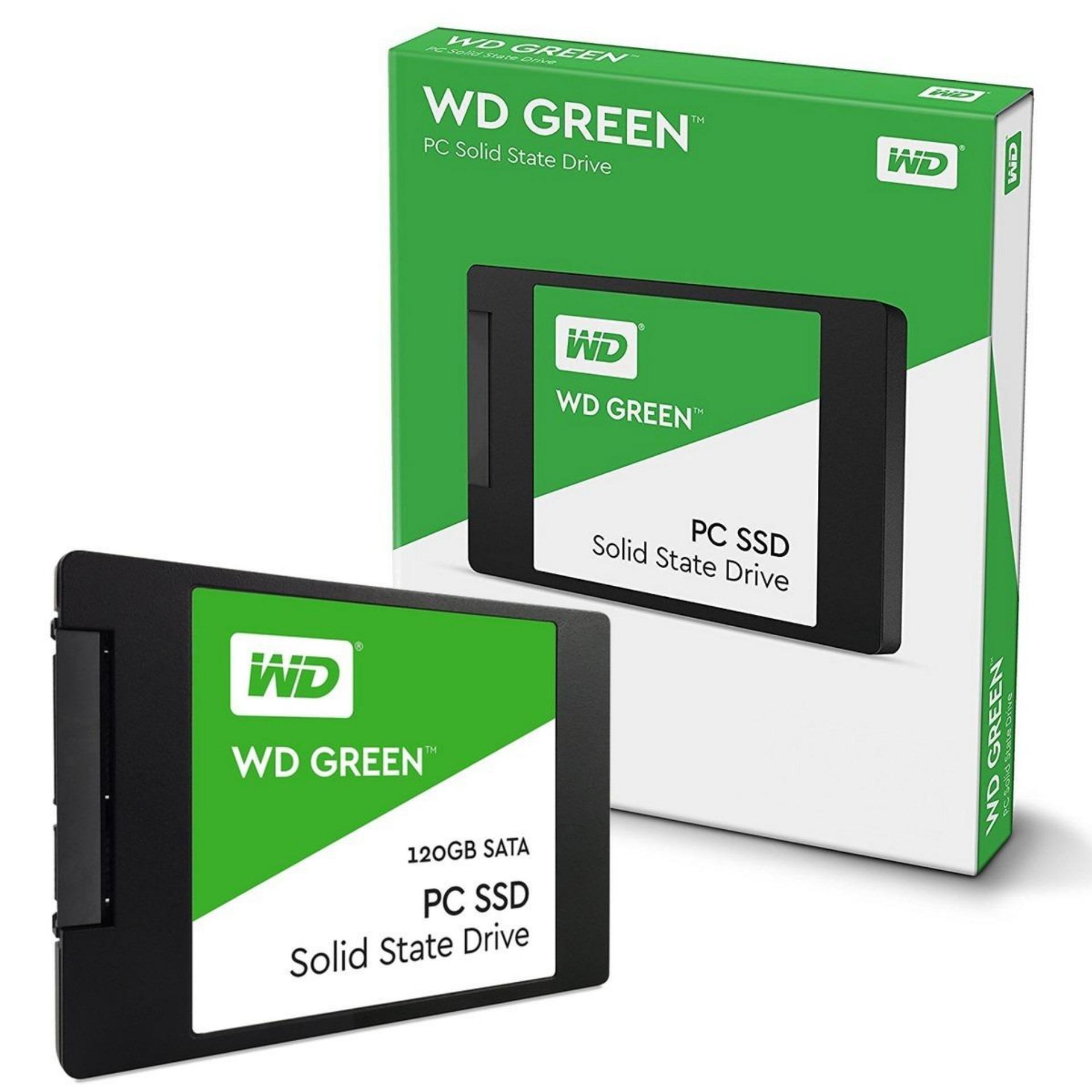 Ổ cứng SSD 120GB Western Digital Green Sata III (Xanh lá) - Hãng Phân Phối chính thức