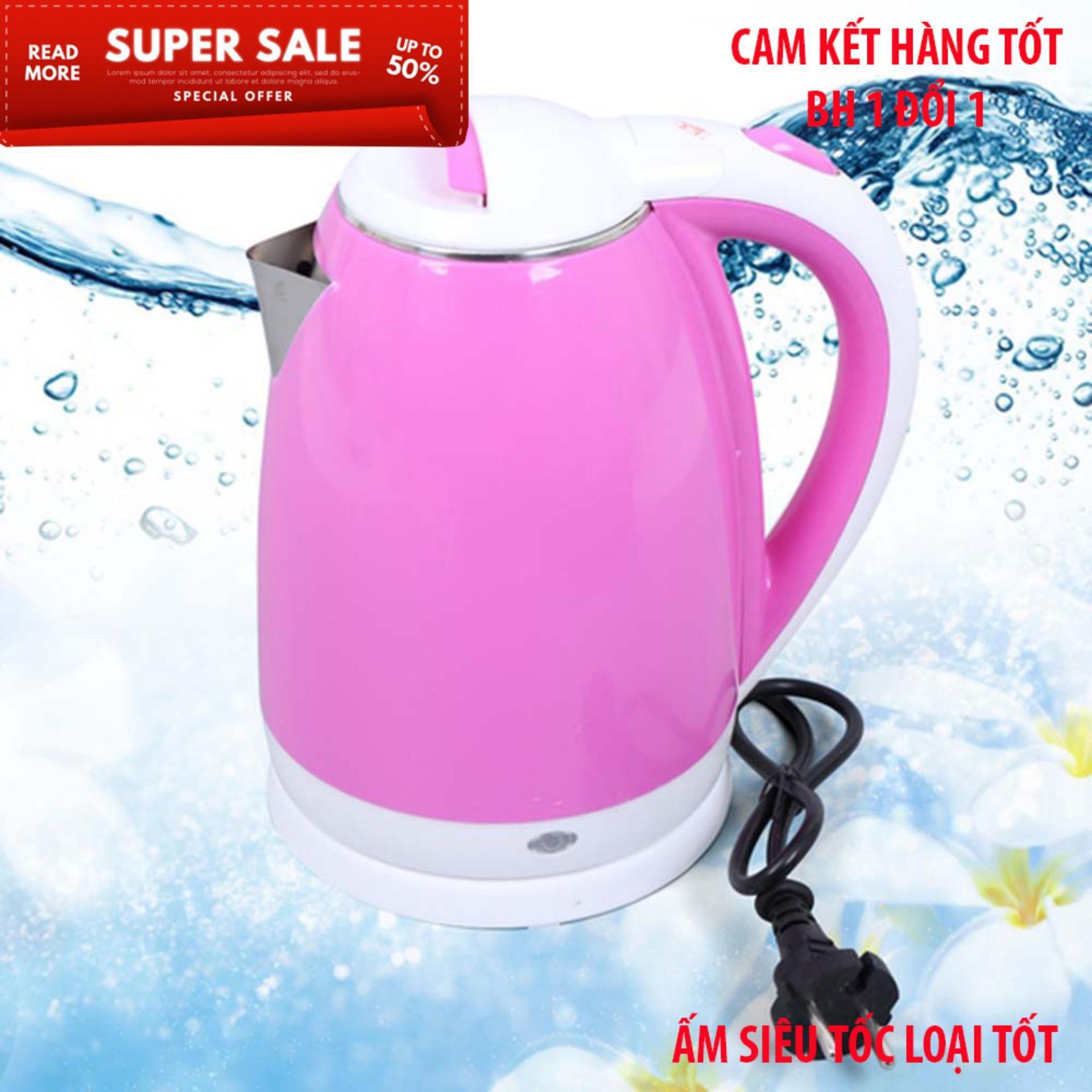 Bình điện philip còn không tốt bằng ấm điện này, Bình đun nước siêu tốc 1.5L - Chất liệu an toàn, Giảm giá sốc, BH 03 tháng, Ca đun nước mini