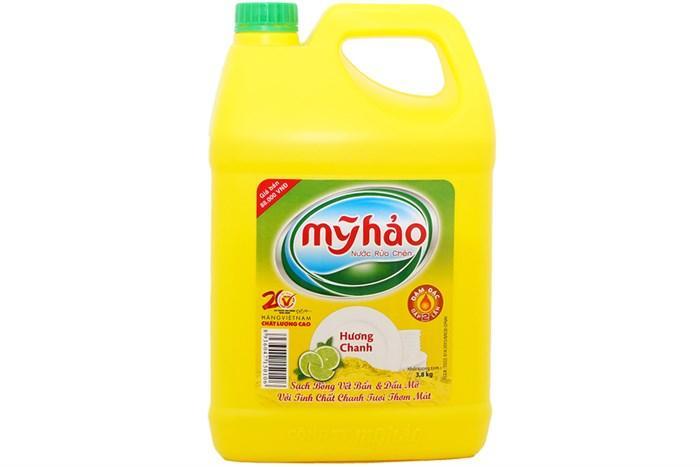 Nước rửa chén Mỹ Hảo Hương Chanh can 1.6 L