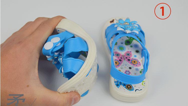 Sandals bé gái thời trang, đính hoa đáng yêu, 45k