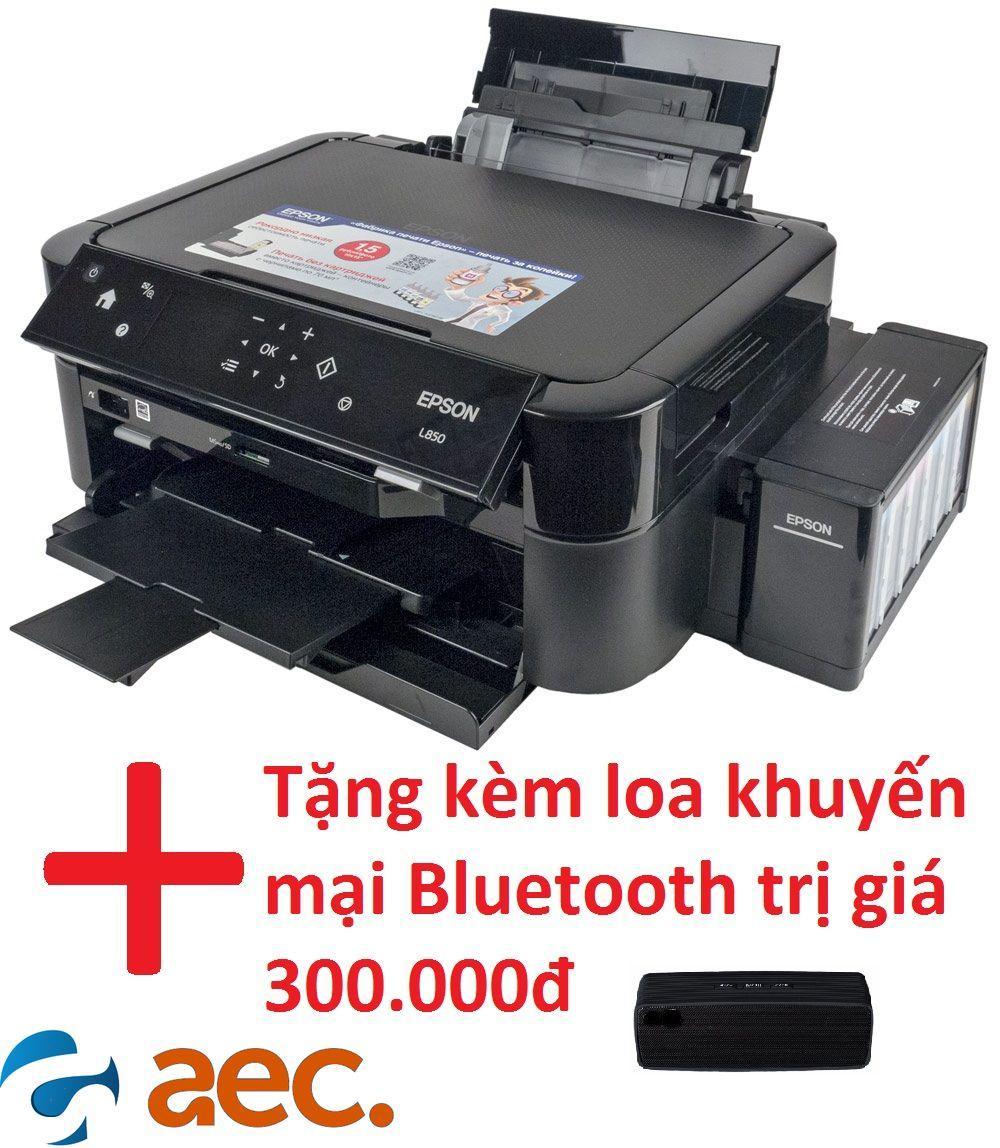 Máy in đa chức năng Epson L850 (in, coppy, scan) dòng 6 màu in sắc nét sử dụng mực Hàn Quốc + khuyến mại loa Bluetooth trị giá 300.000đ