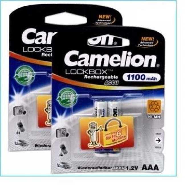 Combo 2 vỉ pin sạc AAA Camelion 1100mah, Pin sạc đũa