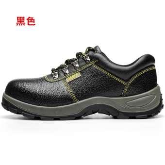 รองเท้าประกันแรงงานชาย Anti-Smashing Anti-piercing เหล็กหุ้มด้านหน้าช่างเชื่อมหนังแท้ปลอดภัยทำงานลำลองเขตก่อสร้างรองเท้าป้องกันรองเท้าเพื่อความปลอดภัย