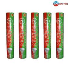 Cửa hàng bán Combo 05 Ống quả cầu lông HẢI YỂN đỏ xanh lá ( loại 12 quả/ ống)