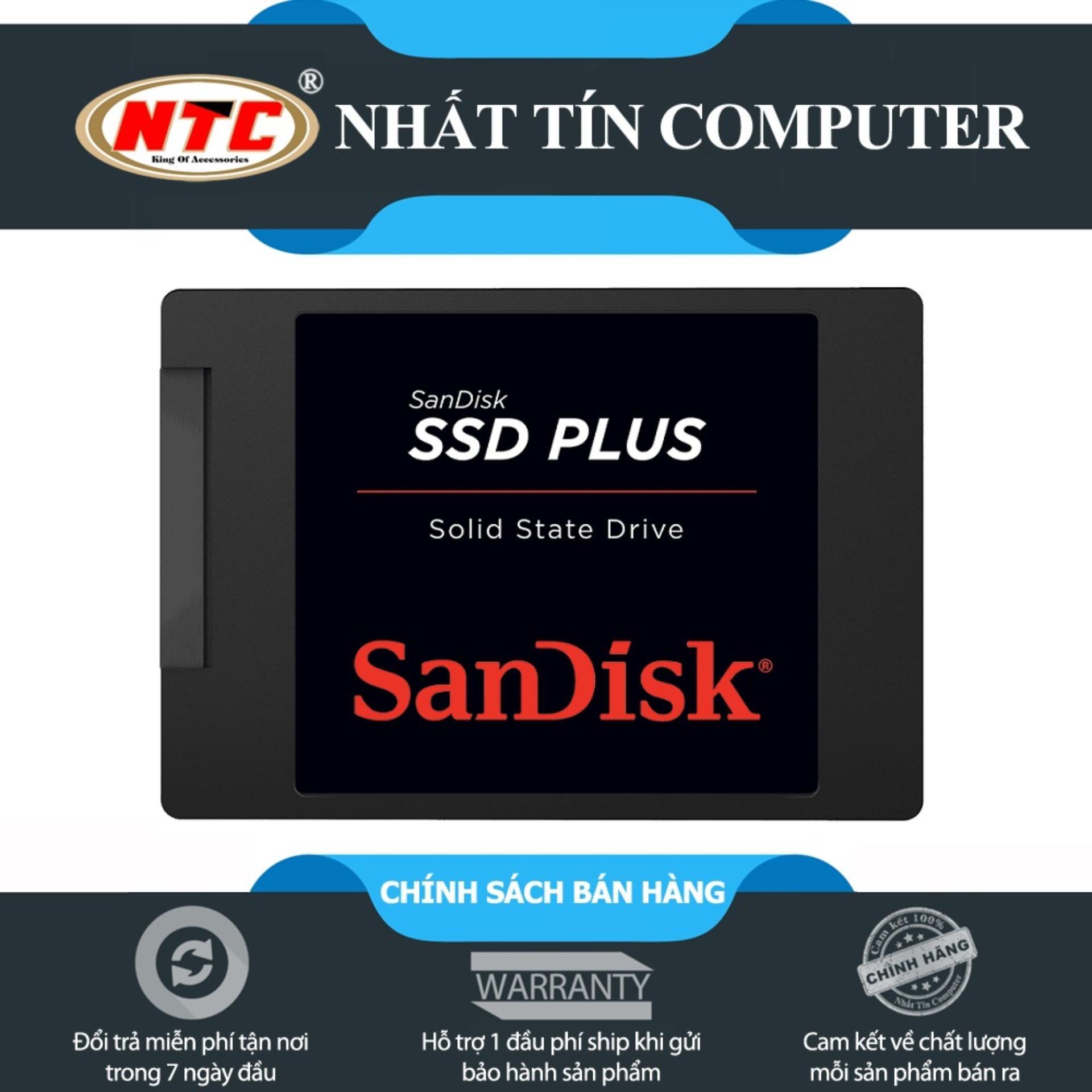 Ổ cứng SSD Sandisk Plus 120GB 520MB/s (Đen)