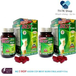 Combo 2 Hộp Viên Uống Giảm Cân Best Slim Collagen USA (Lọ 40 Viên) thumbnail