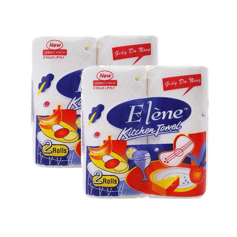 Combo 2 lốc Khăn bếp đa năng Elène 2 cuộn (2lớp)