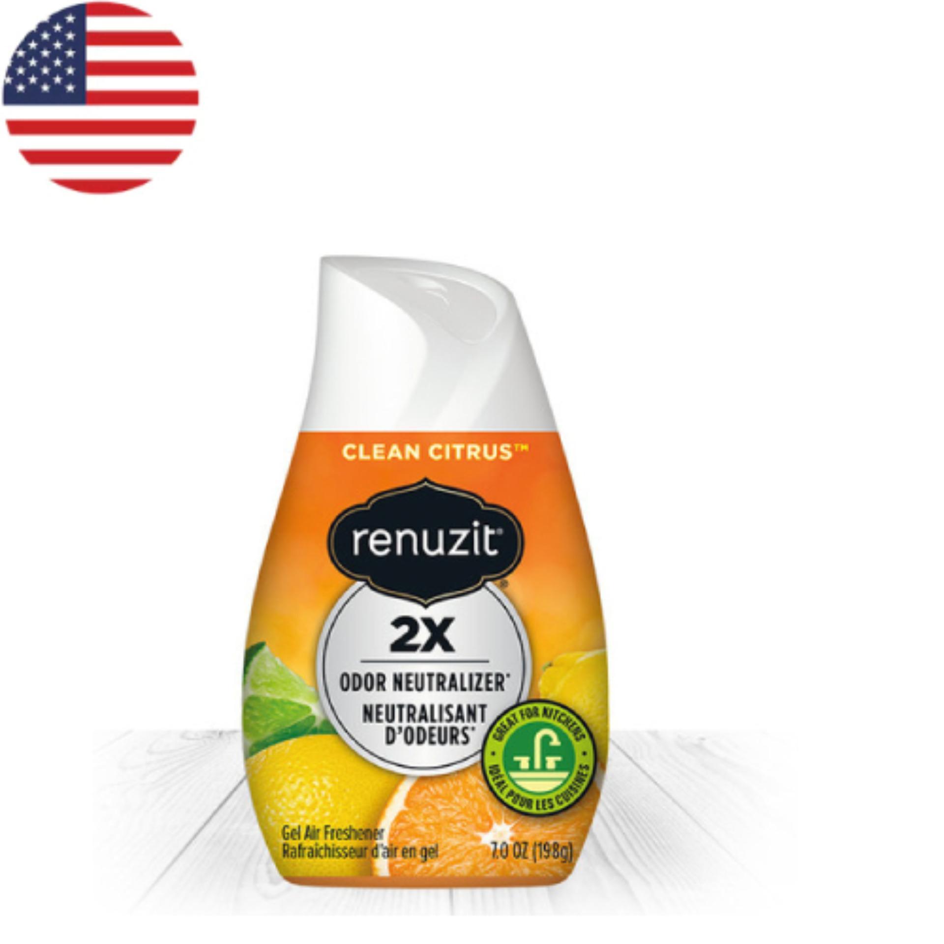 Sáp thơm phòng  Renuzit Clean Citrus 198g - Nhập khẩu Mỹ