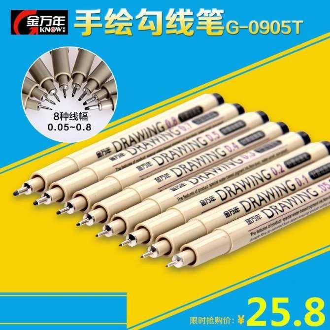 Jin Wannian G-0950t Truyện Tranh Hoạt Hình Chống Nước Bút Chổi Lông Bút  Ngòi Kim