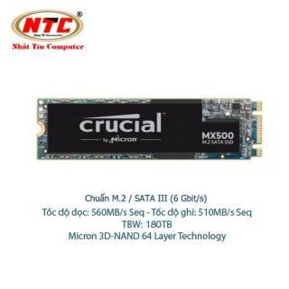 [Nhập ELJUN21 giảm 10% đơn từ 99K max 200K] Ổ Cứng SSD M2 Crucial MX500 dung lượng 500GB - Chuẩn giao tiếp SATA III 6Gbit s (đen) - Nhất Tín Computer thumbnail