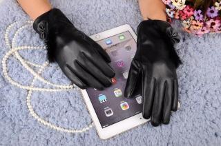 Bao tay nữ Găng tay da nữ cảm ứng mùa thời trang cao cấp cảm ứng điện thoại 10 ngón-BTNCU1 thumbnail