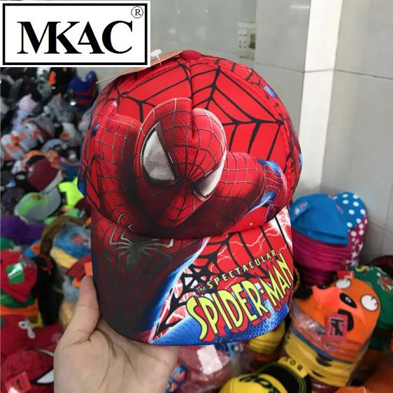 Nón Kết Spiderman Cho Bé Trai 2-8 Tuổi