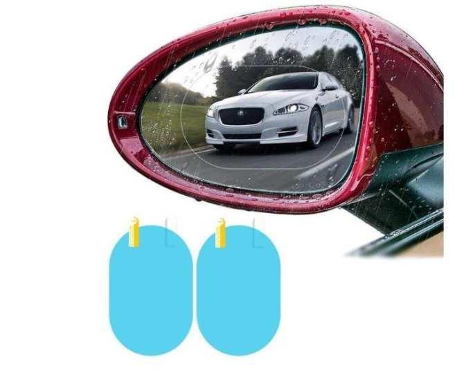 Bộ 2 miếng dán nanofilm chống tụ nước, mờ gương chiếu hậu xe ôtô, xe máy( size 95*135mm hình bầu dục)