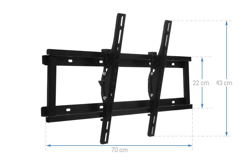 Khung treo cao cấp Tivi LCD-LED-PLASMA nghiêng cao cấp N6.4 37 - 63 inch (Đen ) - BetterLife ( Có clip hướng dẫn lắp đặt )