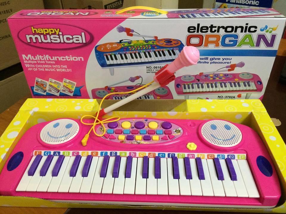 Đàn Organ điện tử kèm micro cho bé làm quen với âm nhạc