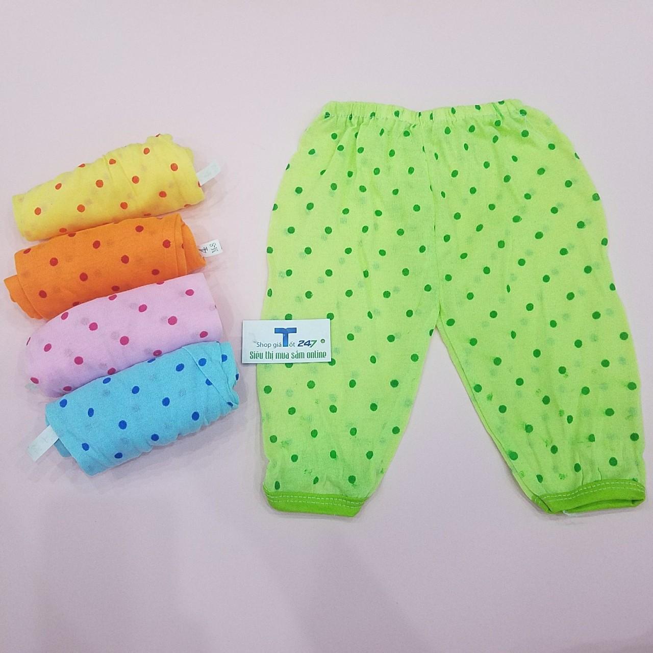 Combo 05 quần dài chấm bi thu cho bé