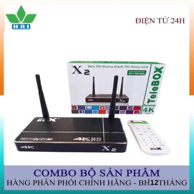 Android TV Box Telebox X2 - Đầu Telebox X2