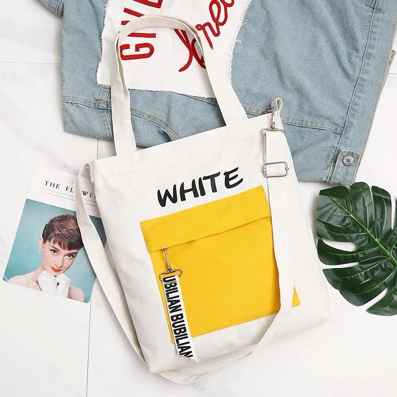 Túi tote canvas đeo vai, đeo chéo thời trang Hàn Quốc -TT10 - COLOR The Hills