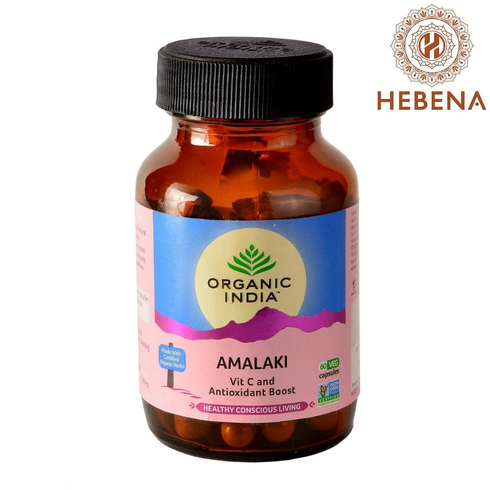 Viên uống bổ sung vitamin C tự nhiên Organic India Amalaki - hebenastore