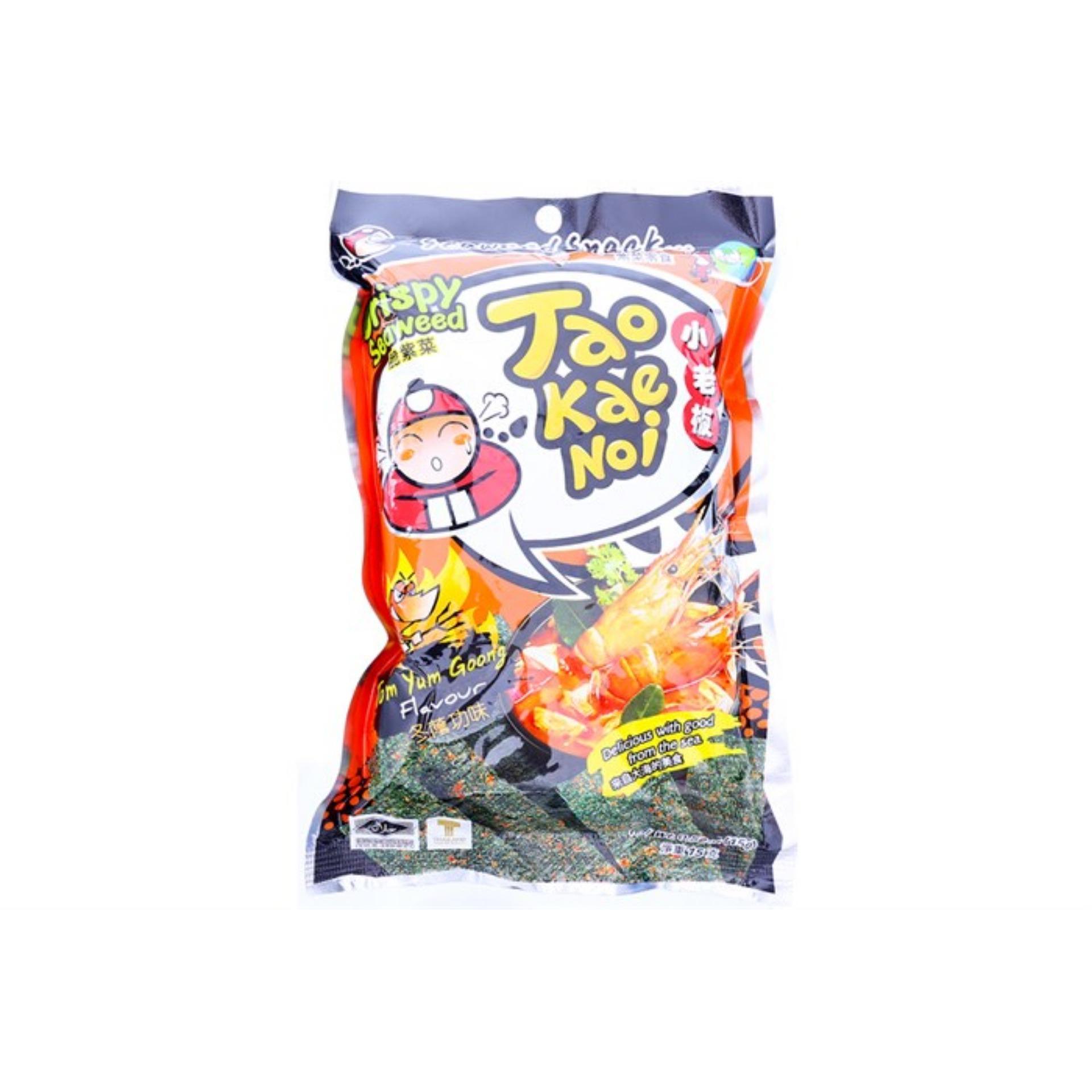 Snack Rong biển Taokaenoi Sấy Crispy Seaweed vị Chua cay 15g