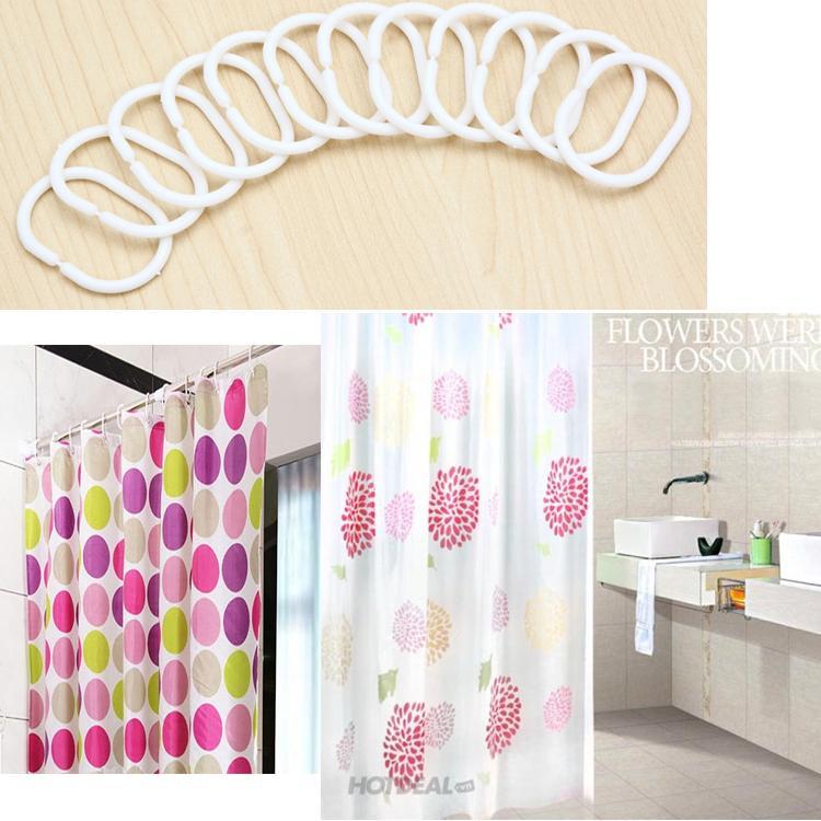 Màn treo nhà tắm nhiều màu sắc hoa văn tuyệt đẹp