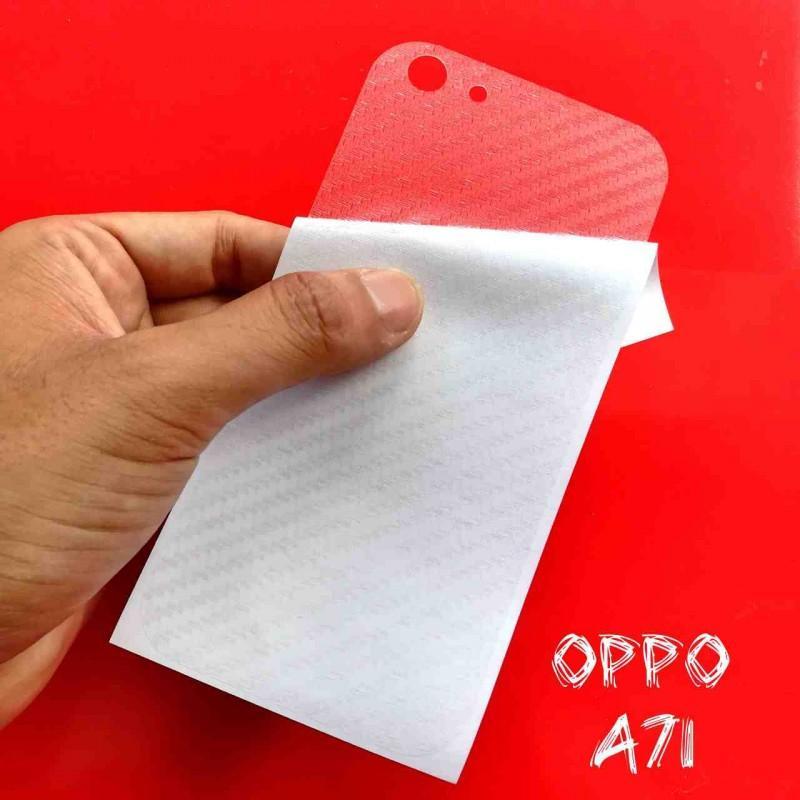 Miếng Decal Dán Lưng Oppo A71 Nhám Trong Carbon