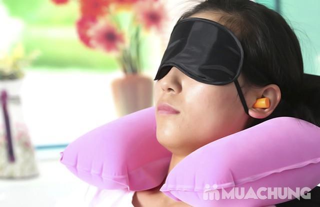 Bộ gối hơi, bịt tai, bịt mắt du lịch đa năng