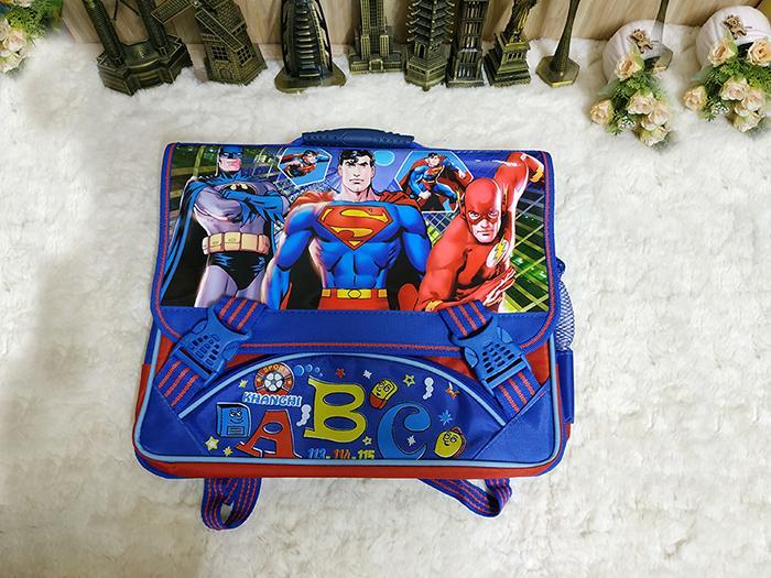 Cặp Học Sinh Tiểu Học Hoạt Hình F4 - HSC13 - Superman (35x34cm)