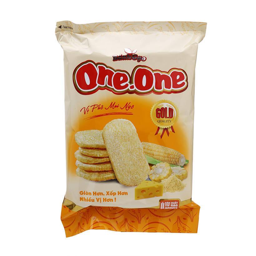 Bánh gạo One-One Gold vị Pho Mai Ngô 118g