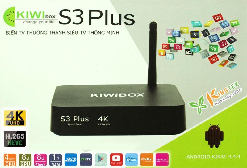 Thiet bi tivi-  Android box Kiwi s3 Pro, Tiện lợi, Giao diện thông minh -Bộ tivi box android, Bộ tivi box android - Sale Off 50%