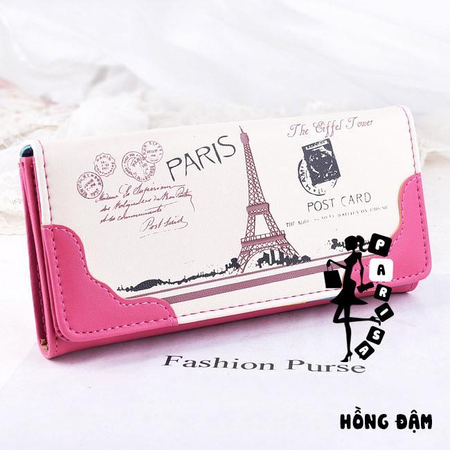 Ví Dài Paris Hình Tháp Eiffel Phong Cách Vintage - parisa.vn