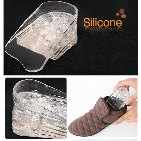 Bộ 10 miếng lót đế giày Silicon tăng chiều cao USA Store (Trong suốt)