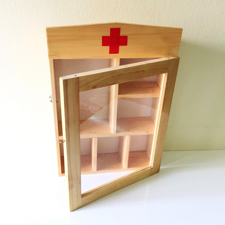 Tủ thuốc y tế gia đình - tủ thuốc gỗ VẬT DỤNG Y TẾ QUAN TRỌNG - tủ thuốc treo tường trang trí nhà Bạn