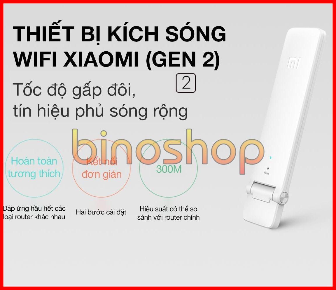 Kích sóng Wifi Xiaomi Repeater Version 2   Kích sóng Wifi Xiaomi Gen 2