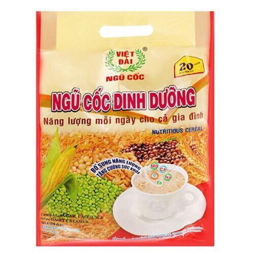 Bột ngũ cốc dinh dưỡng Việt Đài bịch 500g (20 gói)