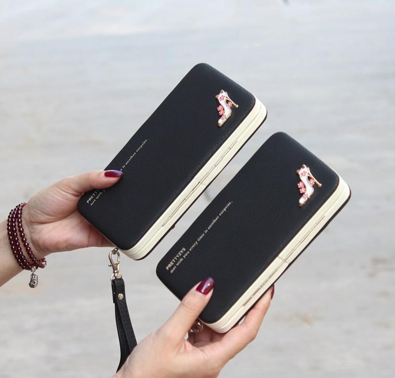 Ví guốc, bóp dài, bóp ví dự tiệc, ví cầm tay, bóp ví đựng tiền nữ cầm tay thời thượng + Tặng thẻ tích điểm Gía tốt 360