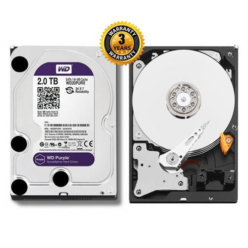 Ổ cứng Camera HDD Western Purple 2TB WD20PURZ tím (bảo hành 3 năm)
