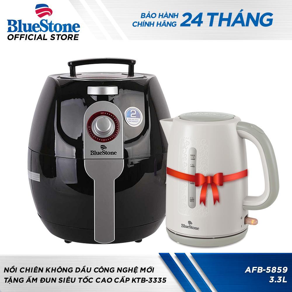 Nồi chiên không dầu công nghệ mới Bluestone AFB-5859 (Đen) Tặng ấm đun siêu tốc KTB-3335