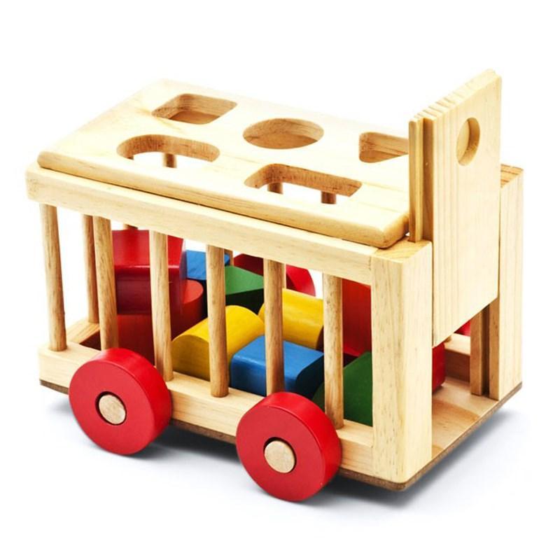 Đồ chơi gỗ an toàn- Xe cũi thả hình