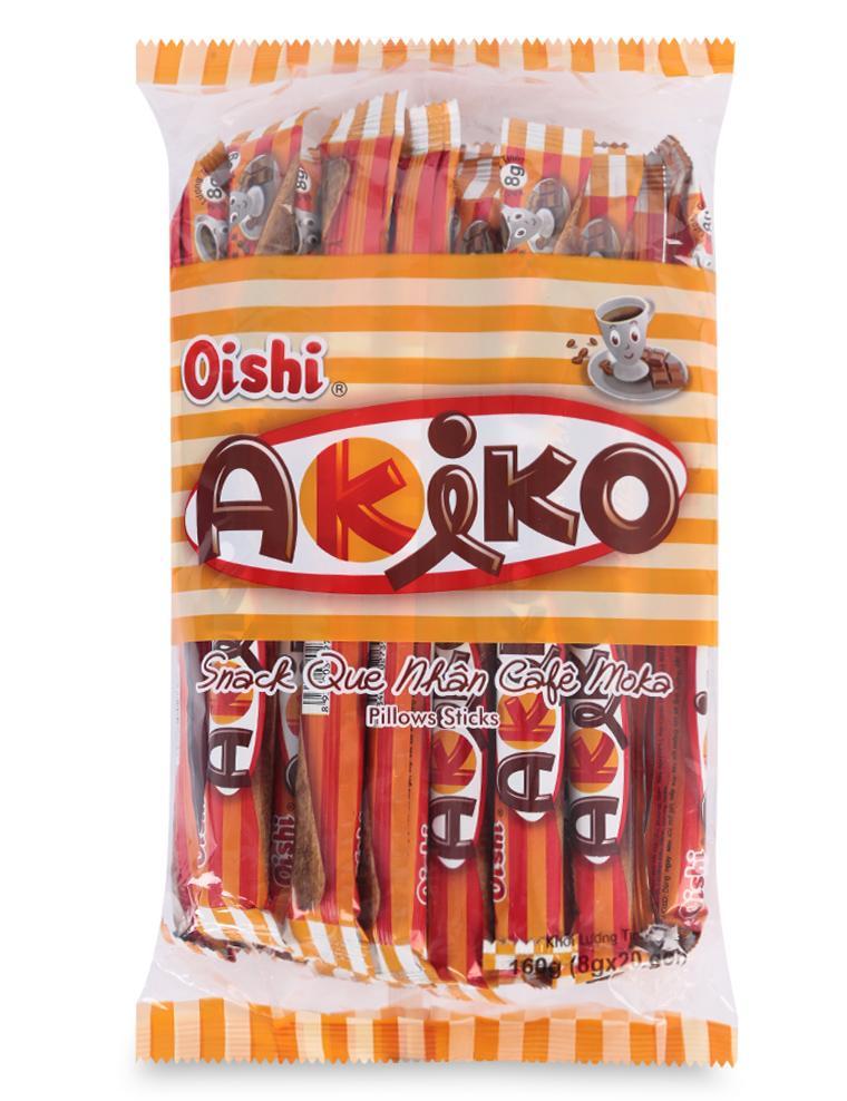 Bánh Snack Que Nhân Cà Phê Moka Akiko Oishi Gói 160G