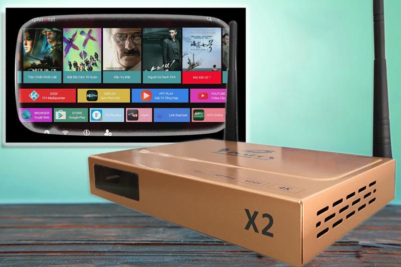 Tivi android gia re, Android Tv box cực thông minh Vinabox X2 Ram 1G Rom 8G nâng cấp TV thường   Bảo hành 12 tháng uy tín   MS:158