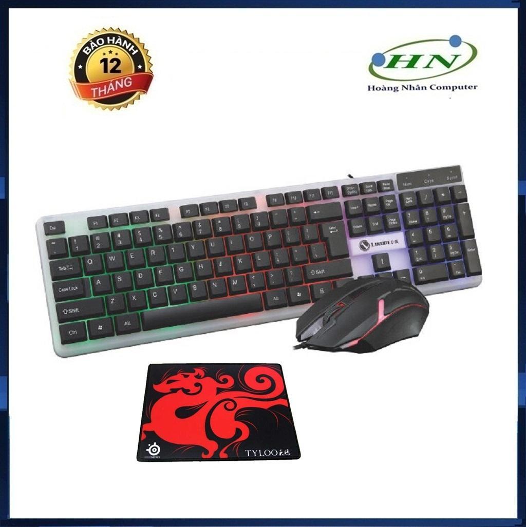 Bộ bàn phím và chuột LIMEIDE T11 chuyên Game Led 7 màu + Tặng Lót Chuột