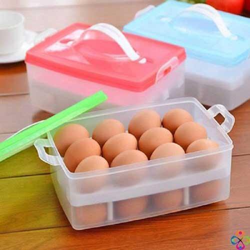 Hộp đựng trứng 2 tầng tiện dụng