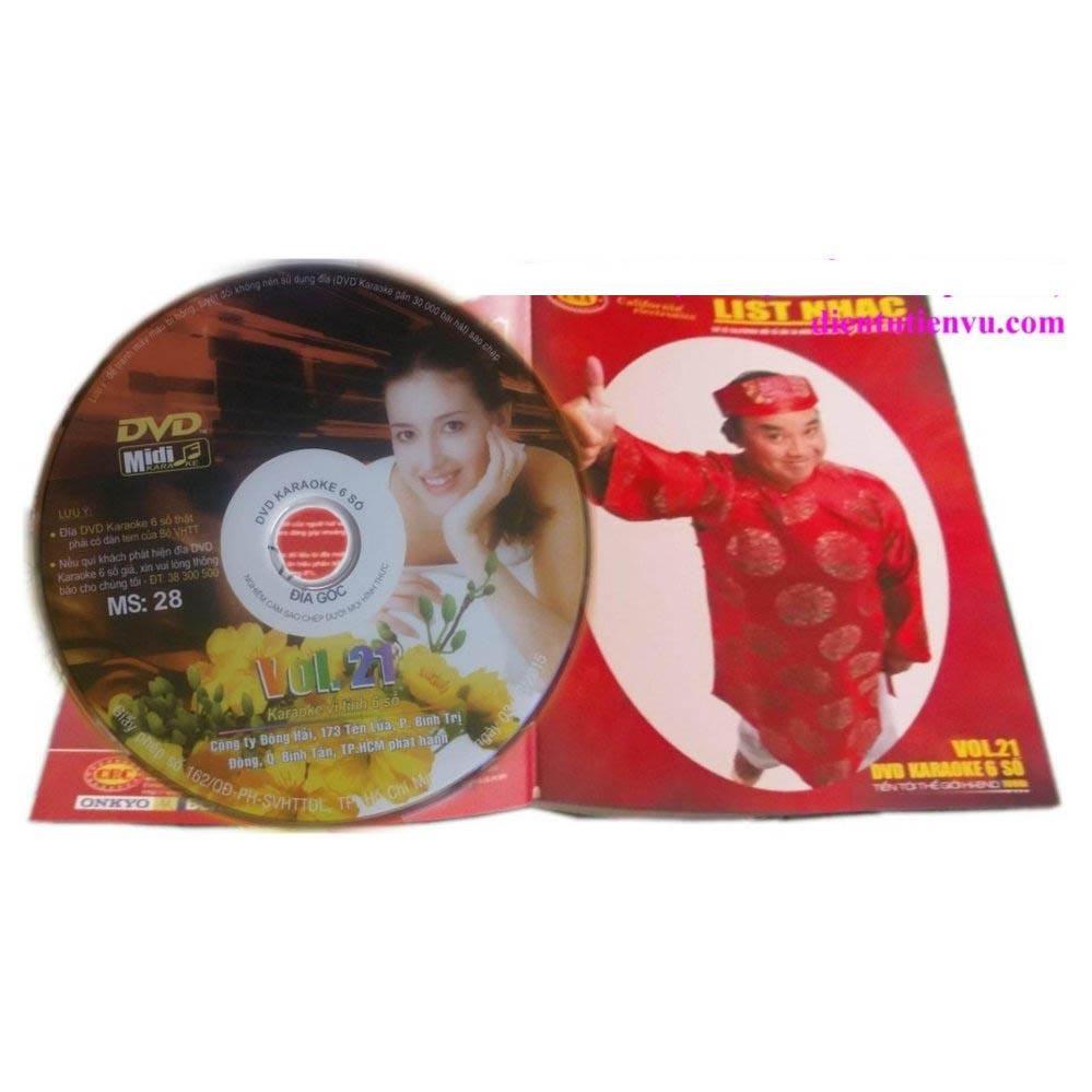 Đĩa Karaoke 6 số California Vol 21 - MS 28 (Hình 1 cô gái Mỹ) + Sách List nhạc